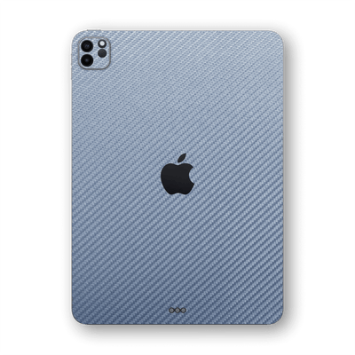 "iPad PRO 11"" 2020 Arctic Blue 3D Textured CARBON Fibre Fiber Skin Wrap Sticker Decal Cover Protector by EasySkinz"