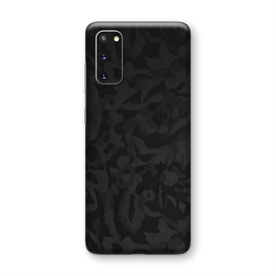Samsung Galaxy S20 Black Camo Camouflage 3D Textured Skin Wrap Sticker Decal Cover Protector by EasySkinz