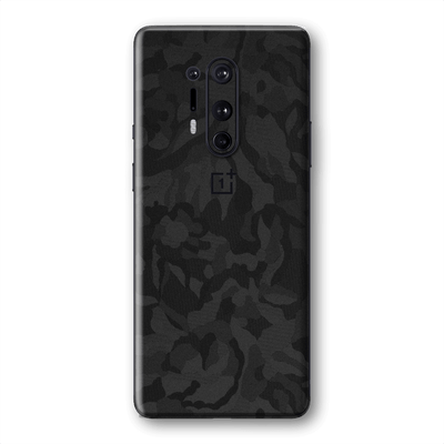OnePlus 8 PRO Black Camo Camouflage 3D Textured Skin Wrap Sticker Decal Cover Protector by EasySkinz