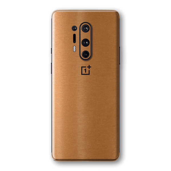 OnePlus 8 PRO Brushed Copper Metallic Metal Skin Wrap Sticker Decal Cover Protector by EasySkinz