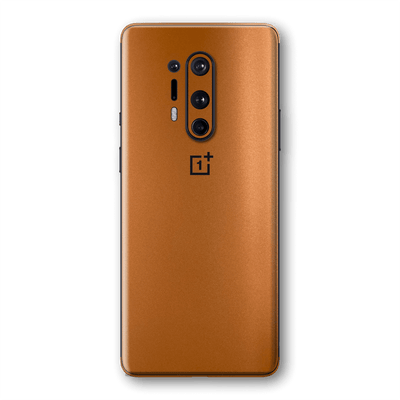 OnePlus 8 PRO Copper Matt Metallic Skin Wrap Sticker Decal Cover Protector by EasySkinz