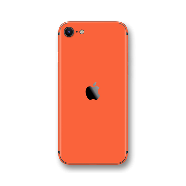 iPhone SE (2020) Coral Gloss Finish Skin Wrap Sticker Decal Cover Protector by EasySkinz