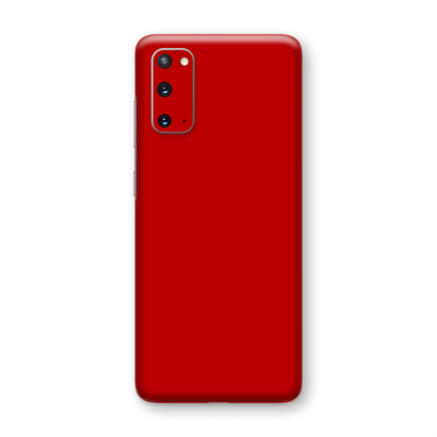Samsung Galaxy S20 Deep Red Glossy Gloss Finish Skin Wrap Sticker Decal Cover Protector by EasySkinz