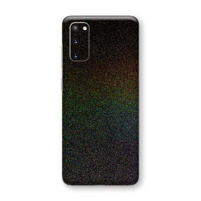 Samsung Galaxy S20 Glossy GALAXY Black Milky Way Rainbow Sparkling Metallic Skin Wrap Sticker Decal Cover Protector by EasySkinz