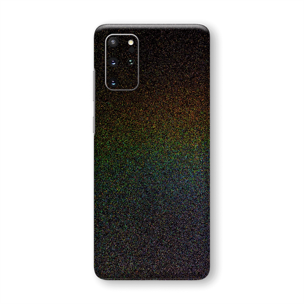 Samsung Galaxy S20+ PLUS Gloss Glossy GALAXY Black Milky Way Rainbow Sparkling Metallic Skin Wrap Sticker Decal Cover Protector by EasySkinz