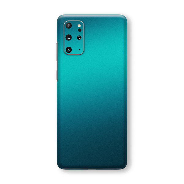 Samsung Galaxy S20+ PLUS Gloss Glossy Atomic Teal Metallic Skin Wrap Sticker Decal Cover Protector by EasySkinz
