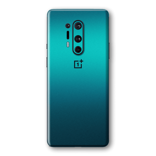 OnePlus 8 PRO Gloss Glossy Atomic Teal Metallic Skin Wrap Sticker Decal Cover Protector by EasySkinz