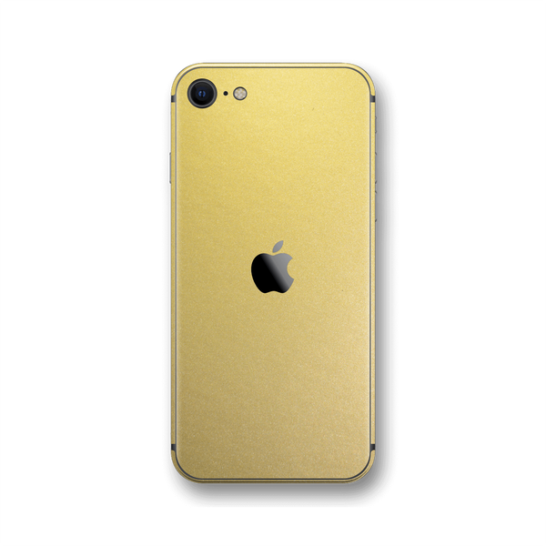 iPhone SE (2020) GOLD MATT Skin Wrap Sticker Decal Cover Protector by EasySkinz