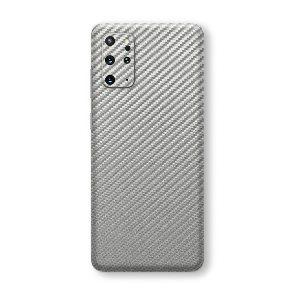 Samsung Galaxy S20+ PLUS 3D Textured Metallic Grey Carbon Fibre Fiber Skin Wrap Sticker Decal Cover Protector by EasySkinz