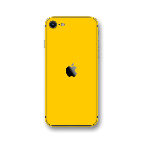 iPhone SE (2020) Golden Yellow Gloss Finish Skin Wrap Sticker Decal Cover Protector by EasySkinz
