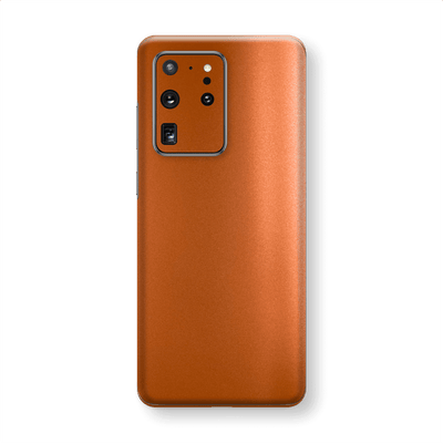 Samsung Galaxy S20 ULTRA Hot Copper Matt Metallic Skin Wrap Sticker Decal Cover Protector by EasySkinz