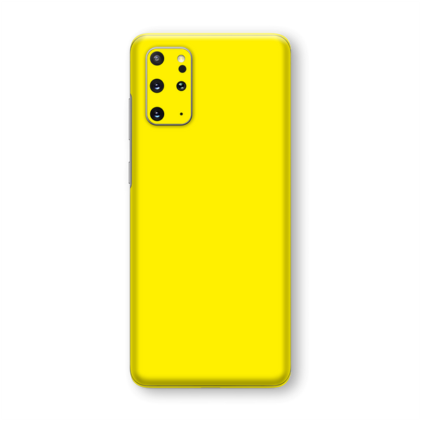 Samsung Galaxy S20+ PLUS Lemon Yellow Glossy Gloss Finish Skin Wrap Sticker Decal Cover Protector by EasySkinz