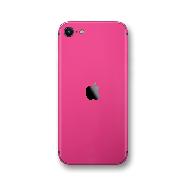 iPhone SE (2020) Magenta Gloss Finish Skin Wrap Sticker Decal Cover Protector by EasySkinz