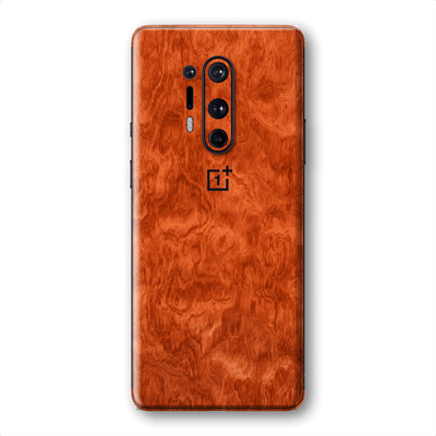 OnePlus 8 PRO Mahogany Wood Wooden Skin Wrap Sticker Decal Cover Protector by EasySkinz