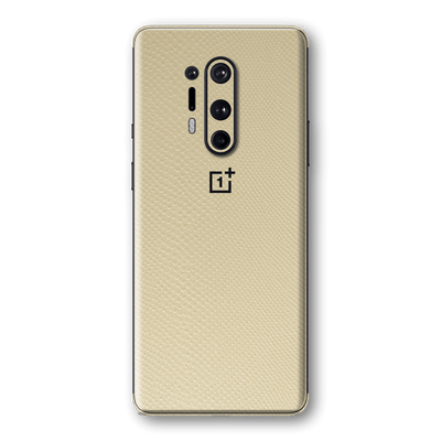 OnePlus 8 PRO Beige Mamba Snake Leather Skin Wrap Sticker Decal Cover Protector by EasySkinz