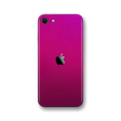 iPhone SE (2020) Fierce Fuchsia Metallic Gloss Finish Skin Wrap Sticker Decal Cover Protector by EasySkinz