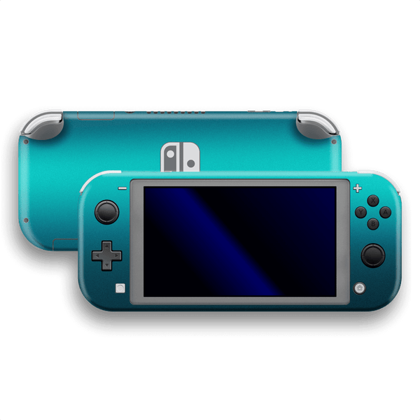 Nintendo Switch LITE Atomic Teal Metallic Gloss Finish Skin Wrap Sticker Decal Cover Protector by EasySkinz