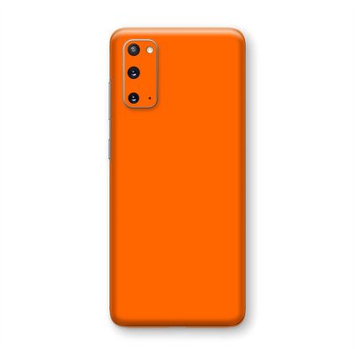 Samsung Galaxy S20 Orange Matt Skin Wrap Sticker Decal Cover Protector by EasySkinz