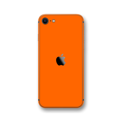 iPhone SE (2020) Orange Gloss Finish Skin Wrap Sticker Decal Cover Protector by EasySkinz