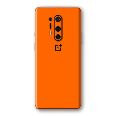 OnePlus 8 PRO Orange Glossy Gloss Finish Skin Wrap Sticker Decal Cover Protector by EasySkinz