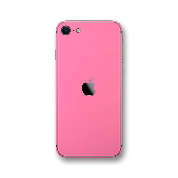 iPhone SE (2020) Hot Pink Gloss Finish Skin Wrap Sticker Decal Cover Protector by EasySkinz