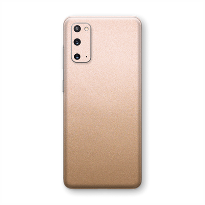 Samsung Galaxy S20 Luxuria Rose Gold Metallic Skin Wrap Sticker Decal Cover Protector by EasySkinz