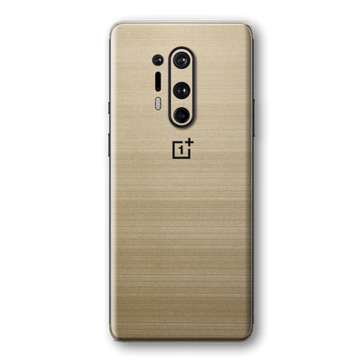 OnePlus 8 PRO Premium Brushed Champagne Gold Metallic Metal Skin Wrap Sticker Decal Cover Protector by EasySkinz