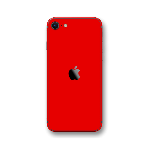 iPhone SE (2020) Bright Red Gloss Finish Skin Wrap Sticker Decal Cover Protector by EasySkinz