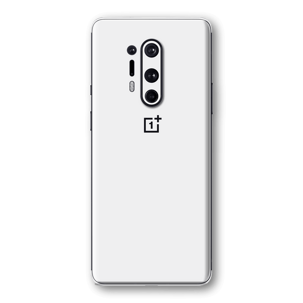 OnePlus 8 PRO White Glossy Gloss Finish Skin Wrap Sticker Decal Cover Protector by EasySkinz