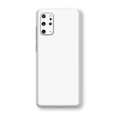 Samsung Galaxy S20+ PLUS White Glossy Gloss Finish Skin Wrap Sticker Decal Cover Protector by EasySkinz