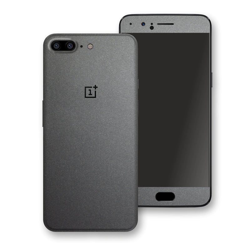 OnePlus 5 Space Grey Matt Metallic Skin, Decal, Wrap, Protector, Cover by EasySkinz | EasySkinz.com