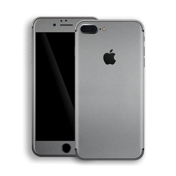 iPhone 8 Plus Space Grey Matt Metallic Skin, Decal, Wrap, Protector, Cover by EasySkinz | EasySkinz.com