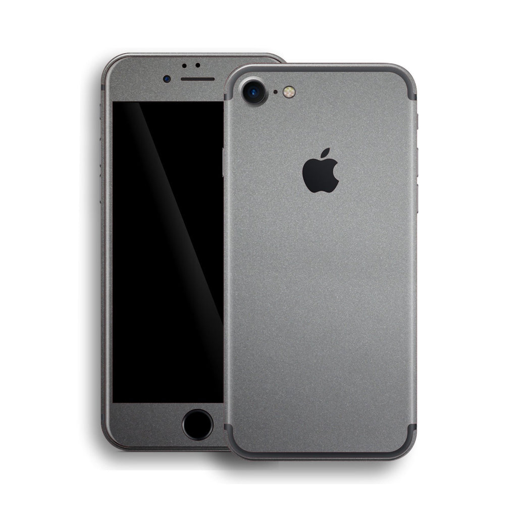 space grey iphone iphone 7 space grey matt skin wrap decal easyskinz 13007