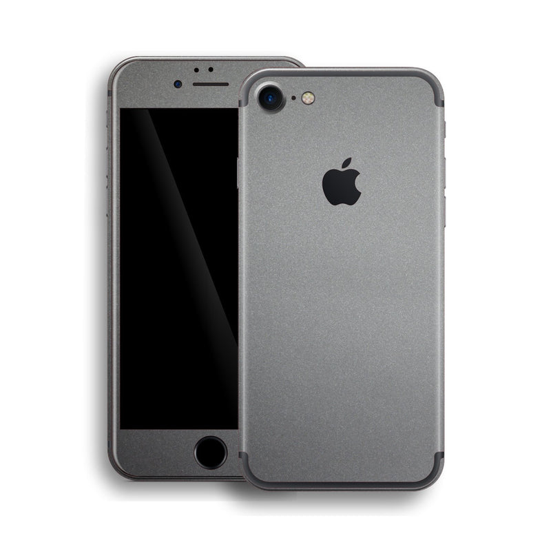 iPhone 7 Space Grey Matt Matte Metallic Skin, Wrap, Decal, Protector, Cover by EasySkinz | EasySkinz.com
