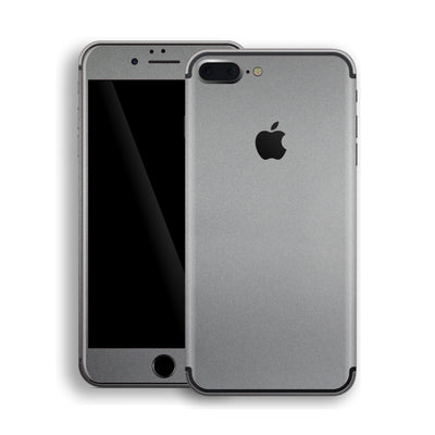 iPhone 7 Plus Space Grey Matt Metallic Skin, Decal, Wrap, Protector, Cover by EasySkinz | EasySkinz.com