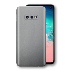 Samsung Galaxy S10e Space Grey Matt Metallic Skin, Decal, Wrap, Protector, Cover by EasySkinz | EasySkinz.com