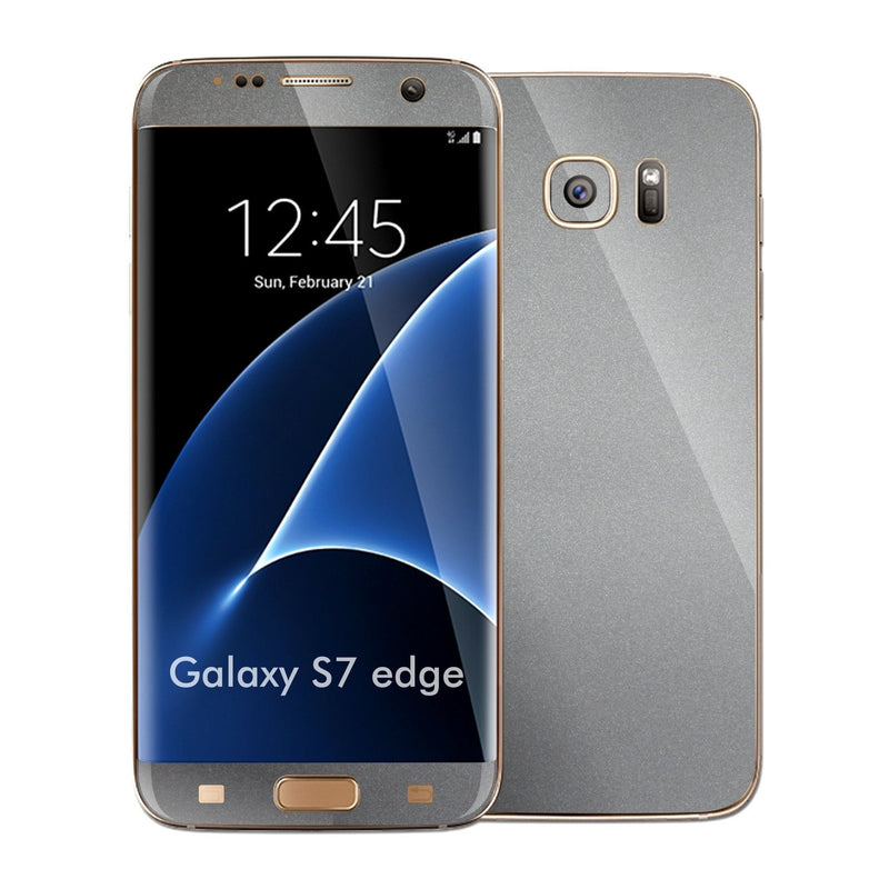 Samsung Galaxy S7 EDGE Space Grey Matt Matte Metallic Skin Wrap Decal Sticker Cover Protector by EasySkinz