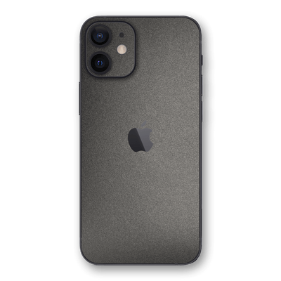 iPhone 12 mini Space Grey Matt Matte Metallic Skin, Wrap, Decal, Protector, Cover by EasySkinz | EasySkinz.com