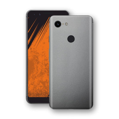 Google Pixel 3 Space Grey Matt Metallic Skin, Decal, Wrap, Protector, Cover by EasySkinz | EasySkinz.com