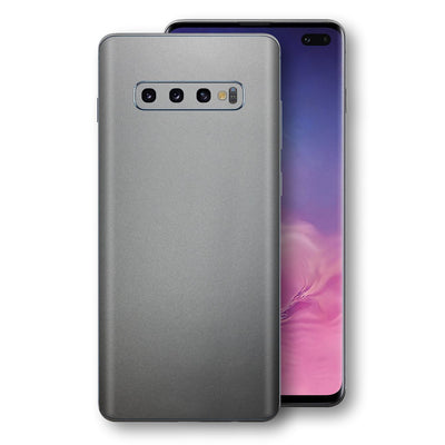 Samsung Galaxy S10+ PLUS Space Grey Matt Metallic Skin, Decal, Wrap, Protector, Cover by EasySkinz | EasySkinz.com