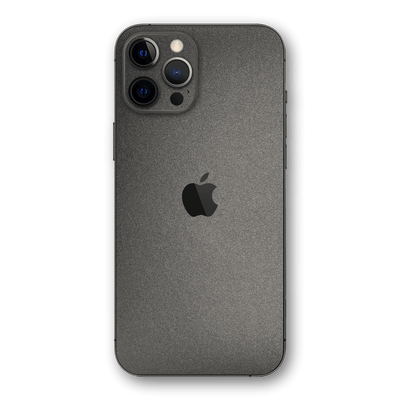 iPhone 12 PRO Space Grey Matt Matte Metallic Skin, Wrap, Decal, Protector, Cover by EasySkinz | EasySkinz.com