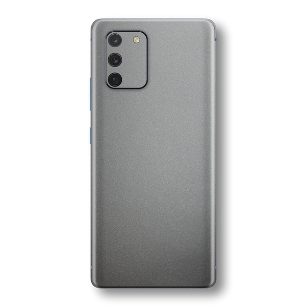 Samsung Galaxy S10 LITE Space Grey Matt Metallic Skin Wrap Sticker Decal Cover Protector by EasySkinz