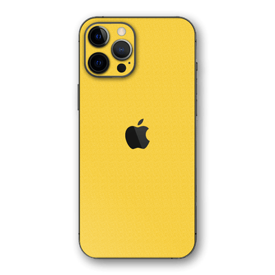 iPhone 12 Pro MAX Sweet Lemon Yellow 3D Textured Skin Wrap Sticker Decal Cover Protector by EasySkinz