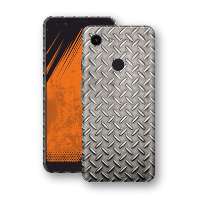 Google Pixel 3 Print Custom Signature Diamond Steel Floor Plate Skin Wrap Decal by EasySkinz
