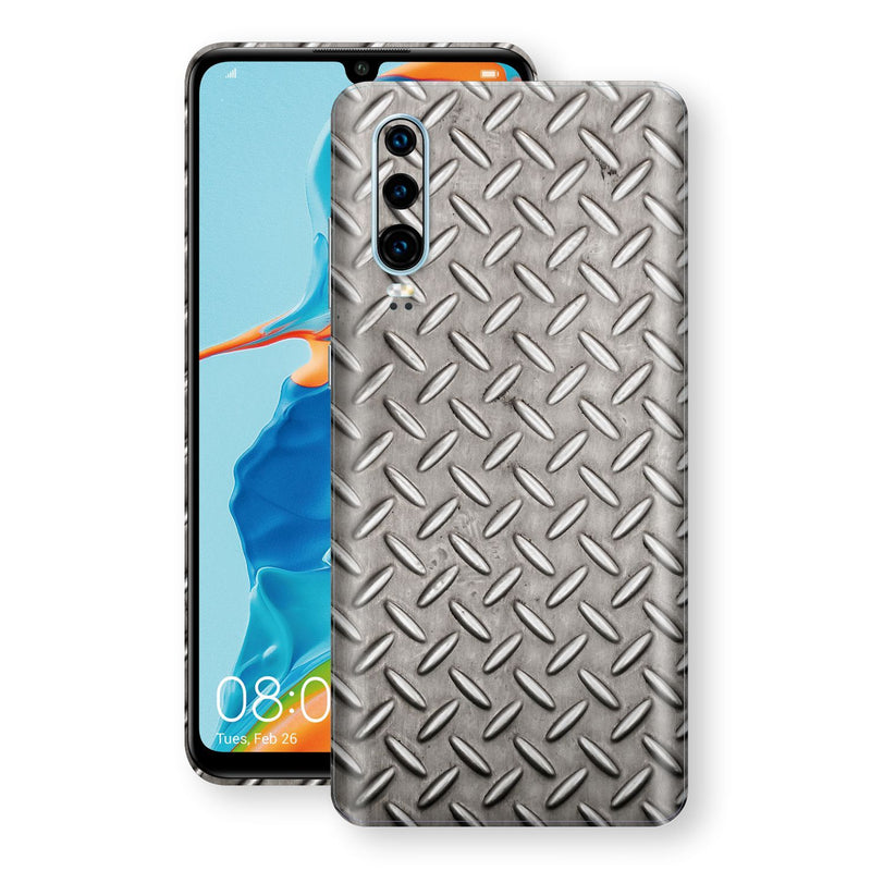 Huawei P30 Print Custom Signature Diamond Steel Floor Plate Skin Wrap Decal by EasySkinz