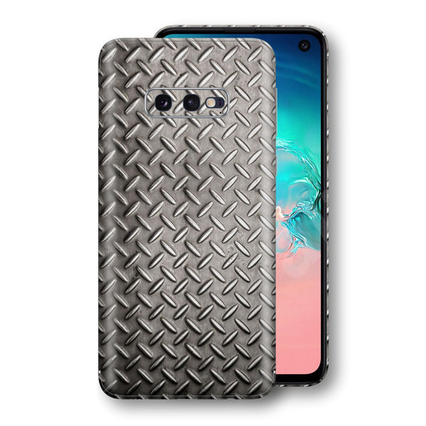 Samsung Galaxy S10e Print Custom Signature Diamond Steel Floor Plate Skin Wrap Decal by EasySkinz