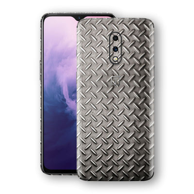 OnePlus 7 Print Custom Signature Diamond Steel Floor Plate Skin Wrap Decal by EasySkinz