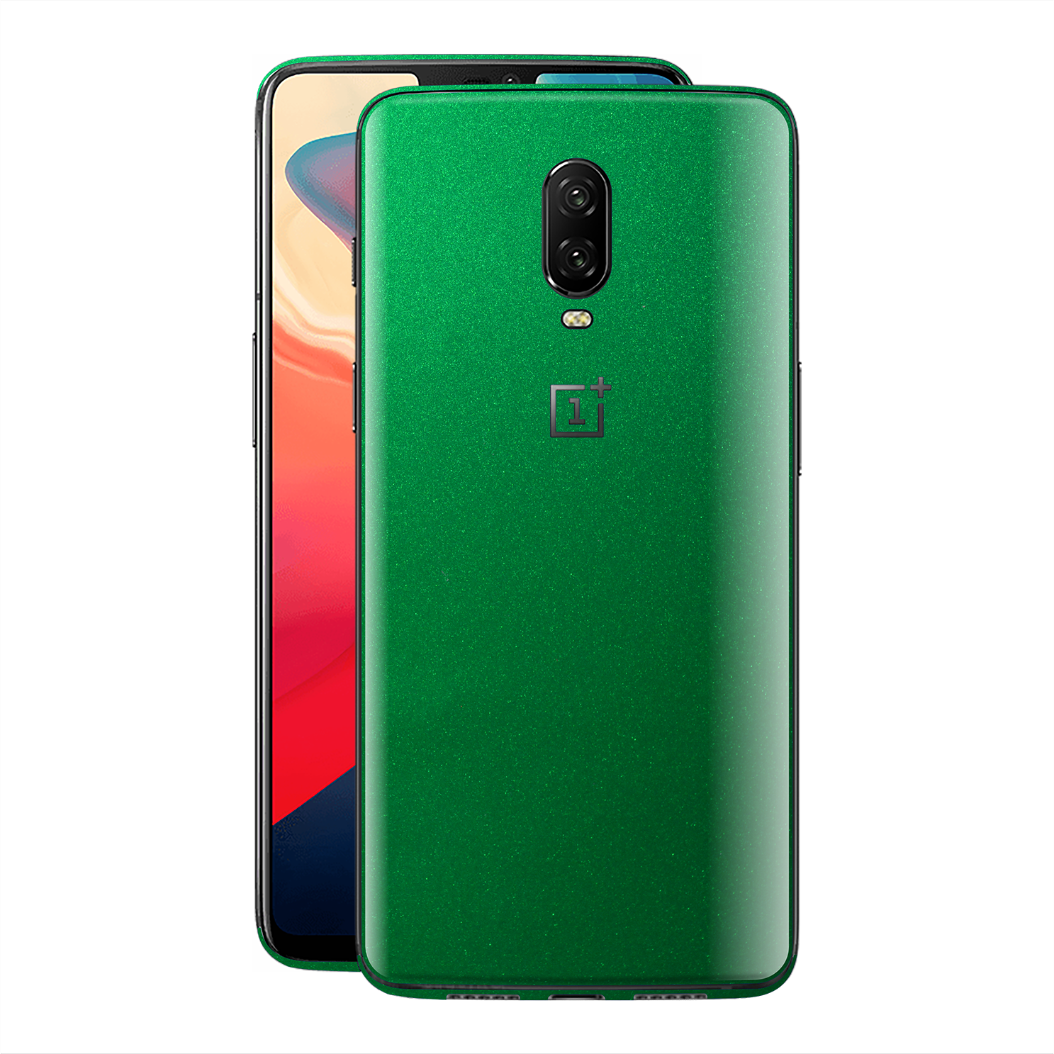 OnePlus 6T Viper Green Tuning Glossy Gloss Finish Skin, Decal, Wrap, Protector, Cover by EasySkinz | EasySkinz.com