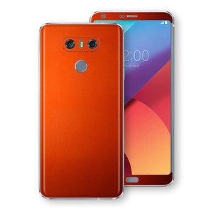 LG G6 Fiery Orange Tuning Metallic Skin, Decal, Wrap, Protector, Cover by EasySkinz | EasySkinz.com