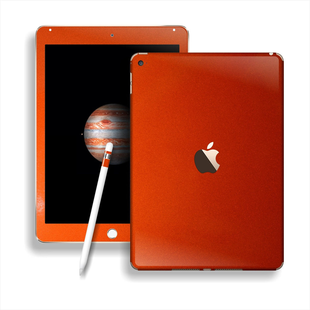 iPad PRO Glossy 3M Fiery Orange Metallic Skin Wrap Sticker Decal Cover Protector by EasySkinz